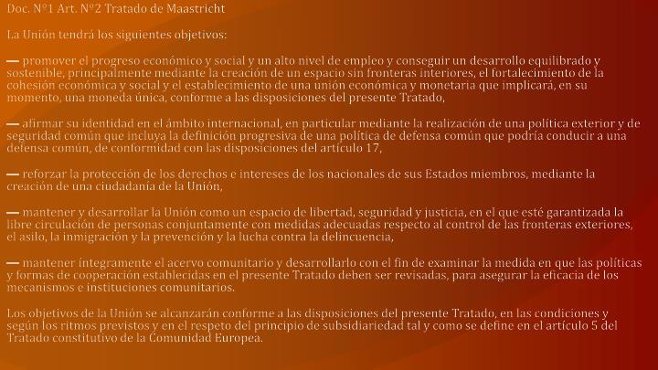 Doc. Nº1 Art. Nº2 Tratado de Maastricht
