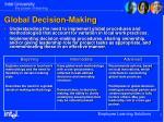 global decision making