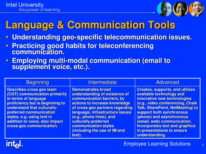 Language communication tools