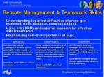 remote management teamwork skills