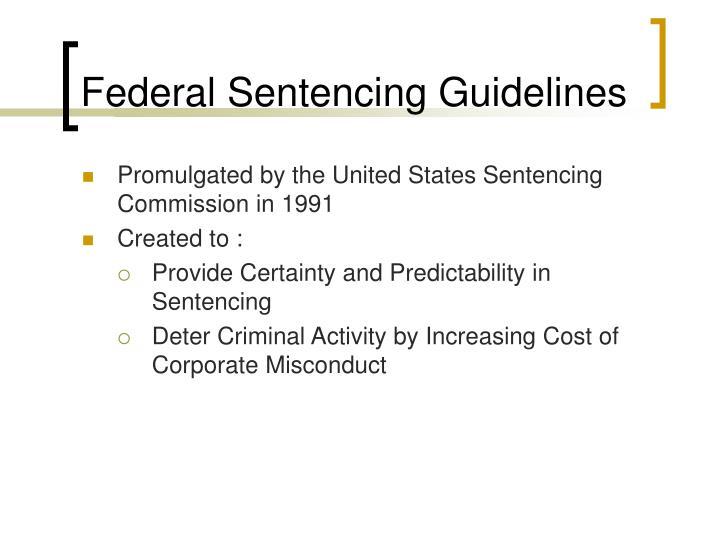 Federal Sentencing Guidelines
