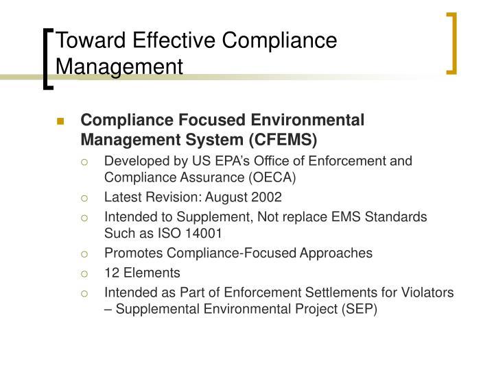 Toward Effective Compliance Management