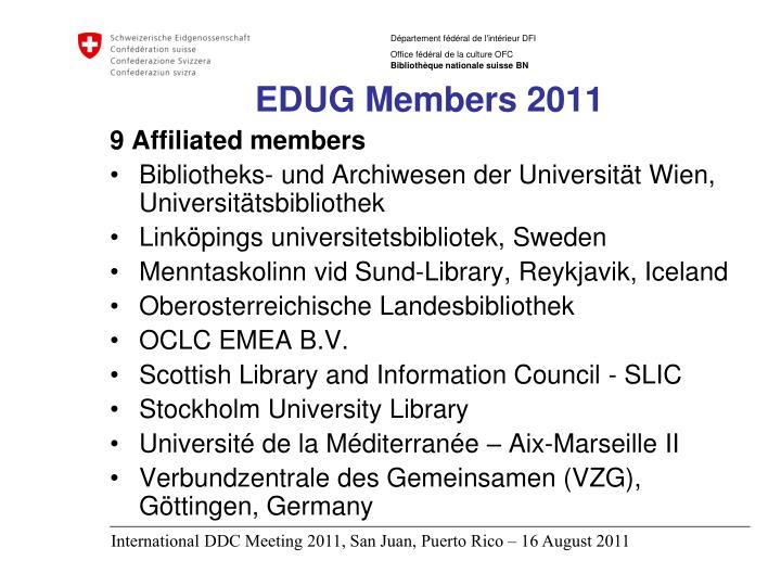 EDUG Members 2011