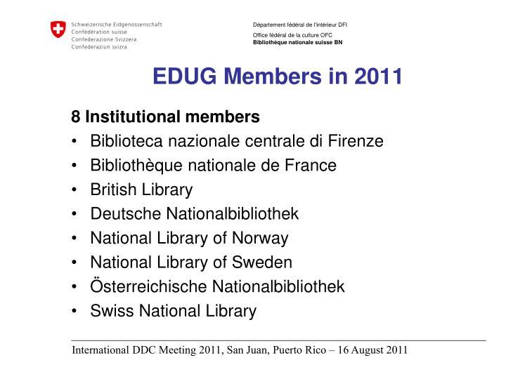 EDUG Members in 2011