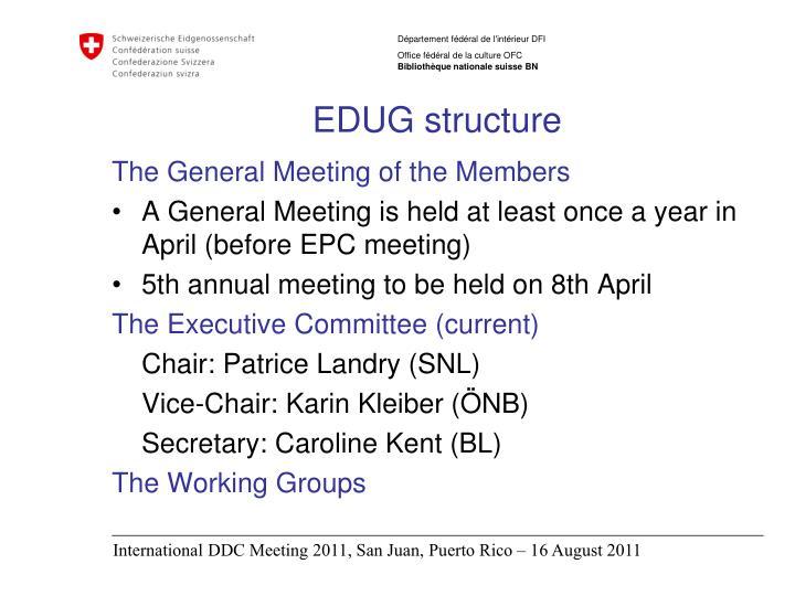 EDUG structure