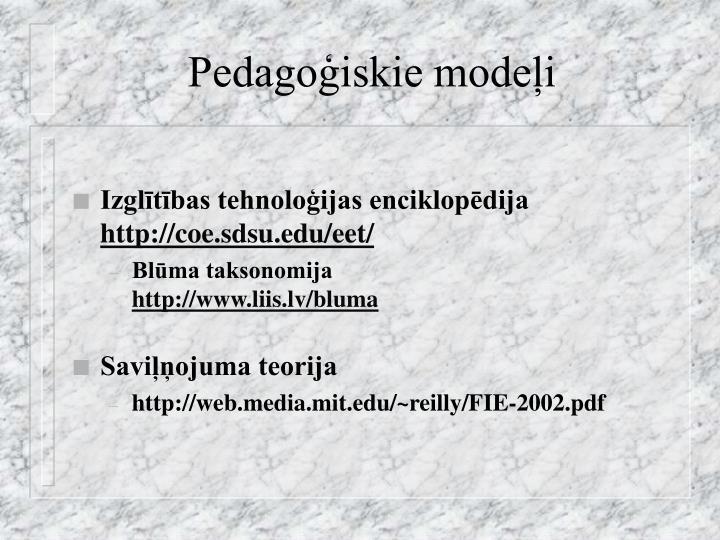 Pedagoģiskie modeļi