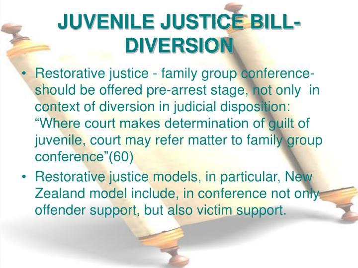 JUVENILE JUSTICE BILL-DIVERSION