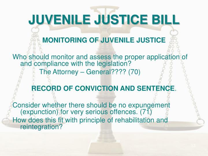 JUVENILE JUSTICE BILL