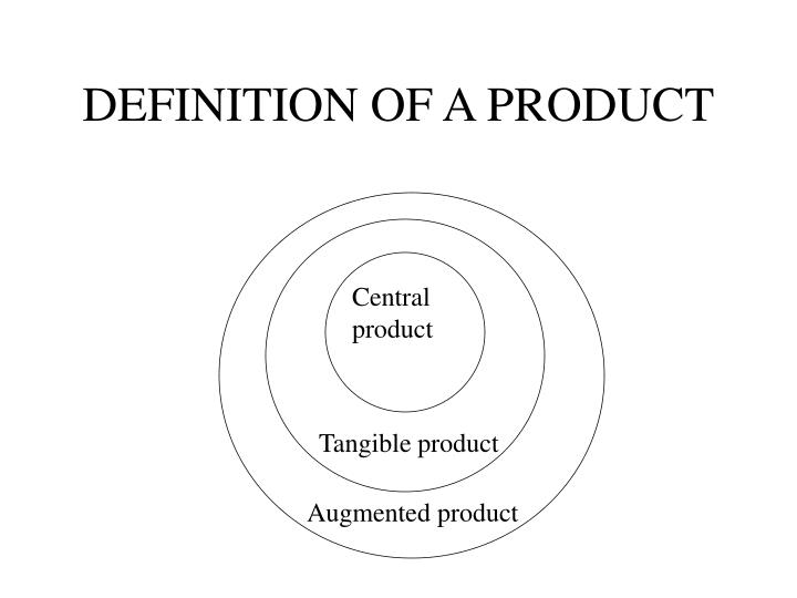 DEFINITION OF A PRODUCT