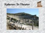 ephesus to theater