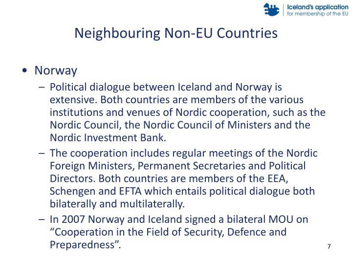 Neighbouring Non-EU Countries