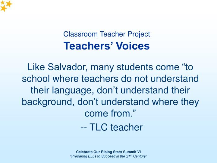 Classroom Teacher Project