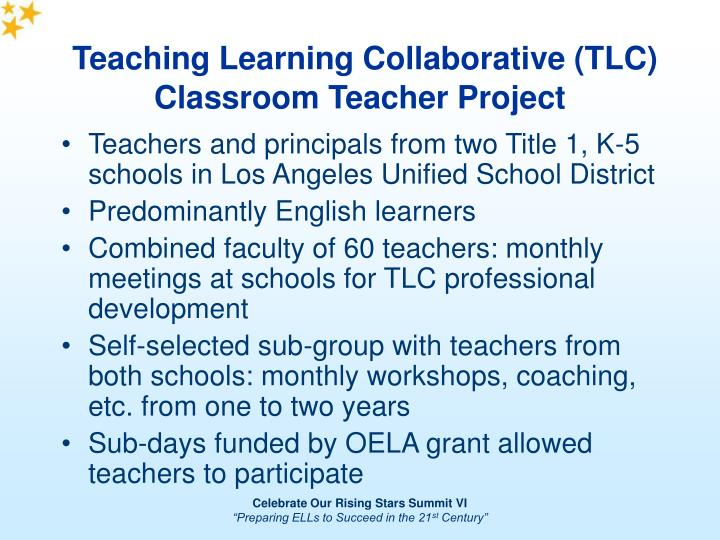 Teaching learning collaborative tlc classroom teacher project1