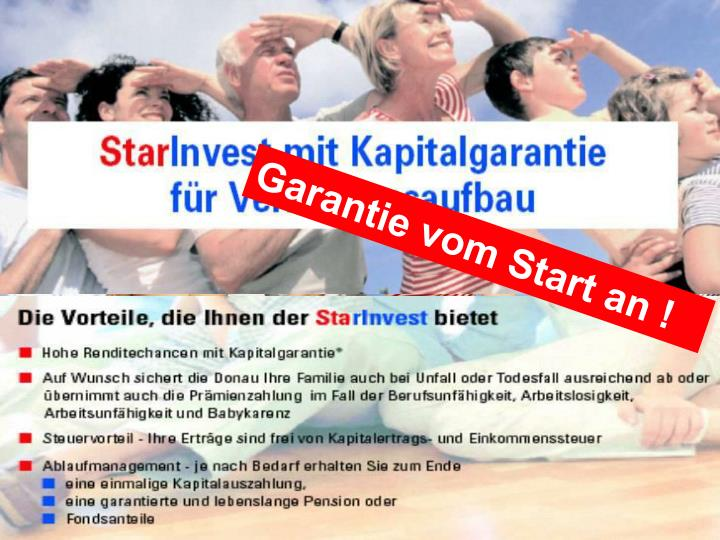 Garantie vom Start an !