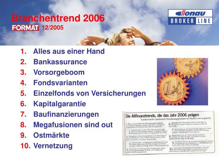 Branchentrend 2006