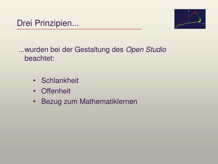 Drei Prinzipien...
