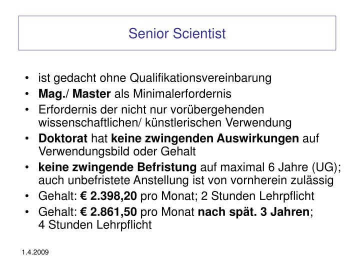 Senior Scientist