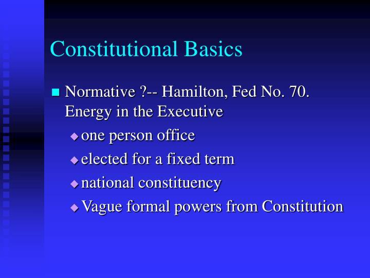 Constitutional Basics
