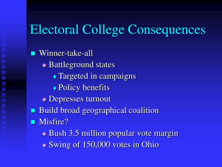 Electoral college consequences