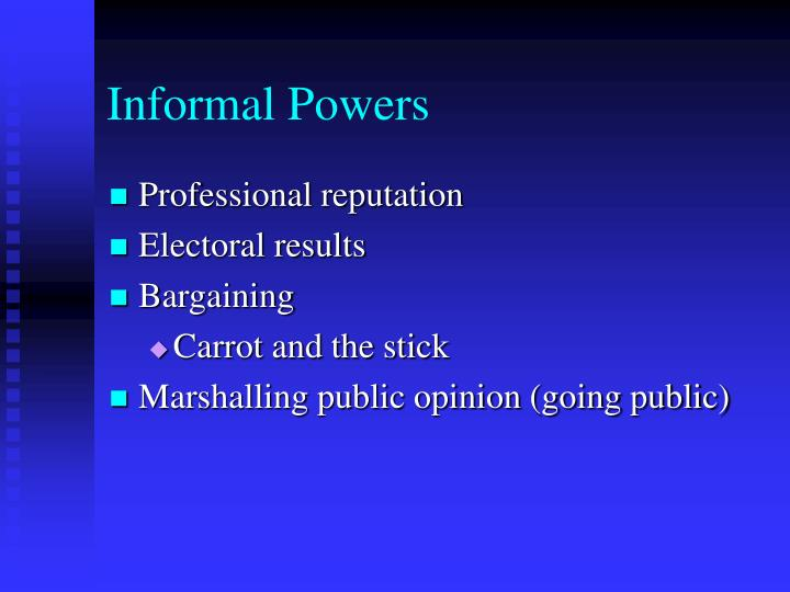 Informal Powers