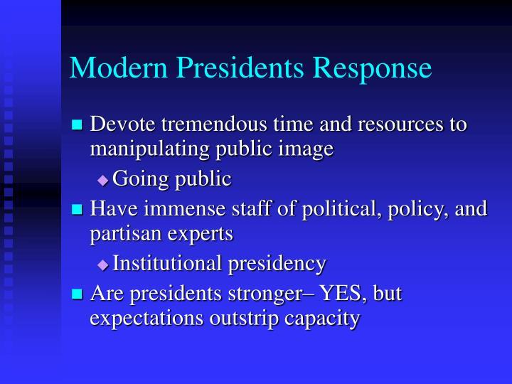 Modern Presidents Response