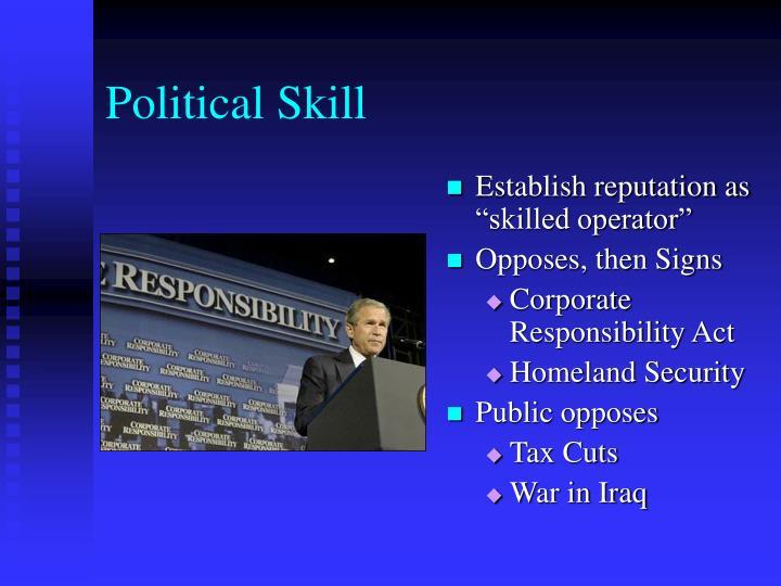 Political Skill