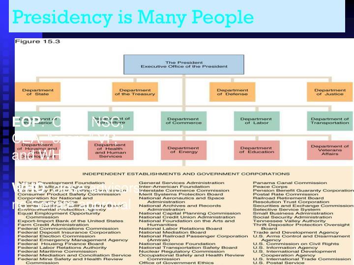 Presidency is Many People