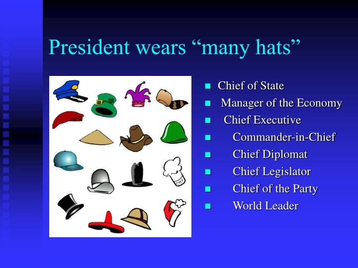 "President wears ""many hats"""