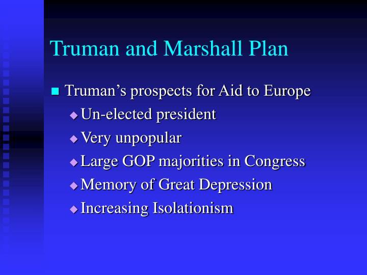 Truman and Marshall Plan