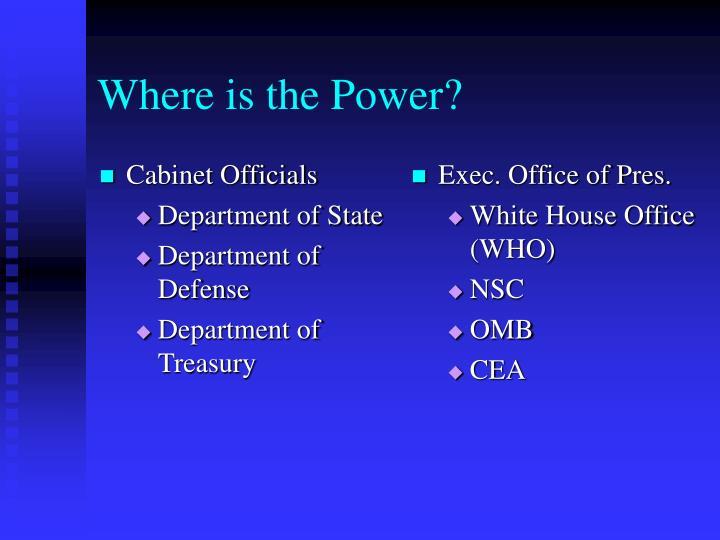 Cabinet Officials