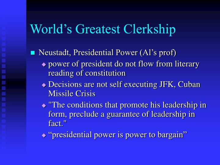World's Greatest Clerkship