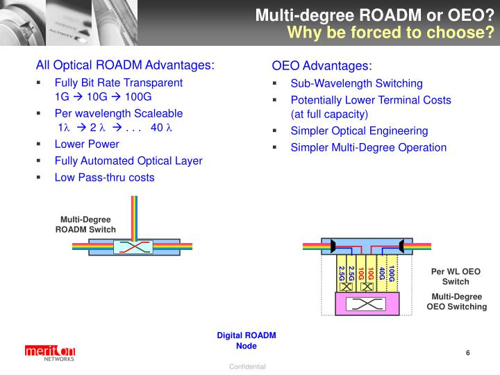 Multi-degree ROADM or OEO?