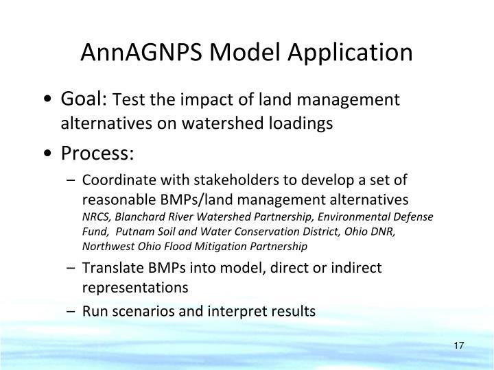 AnnAGNPS Model Application