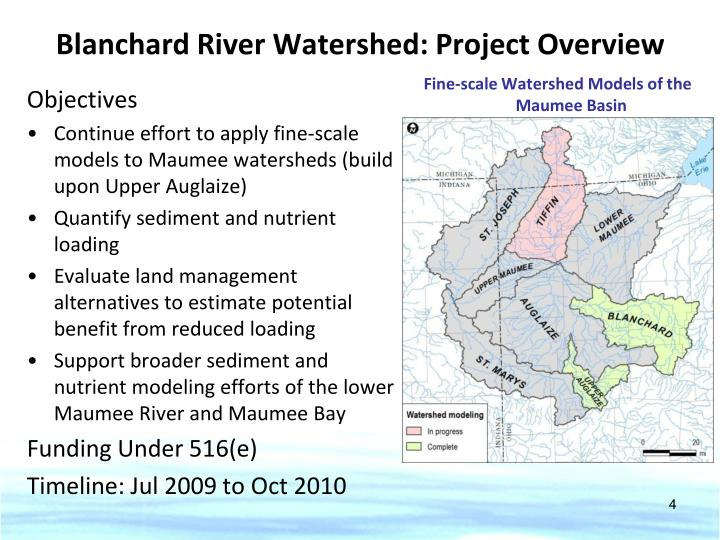 Blanchard River Watershed: Project Overview