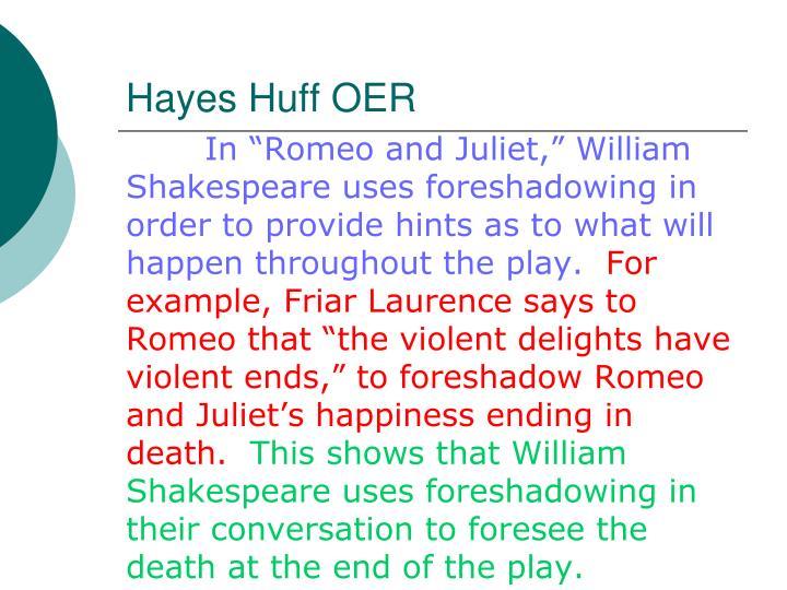 Hayes Huff OER
