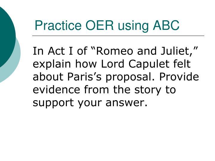 Practice OER using ABC