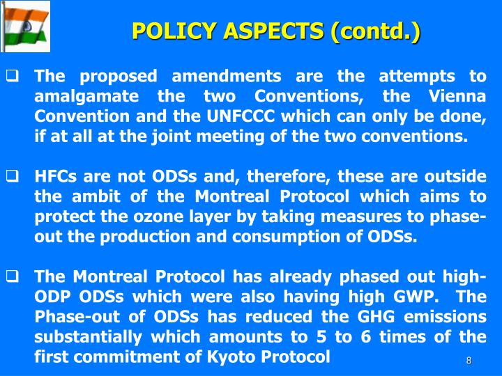 POLICY ASPECTS (contd.)