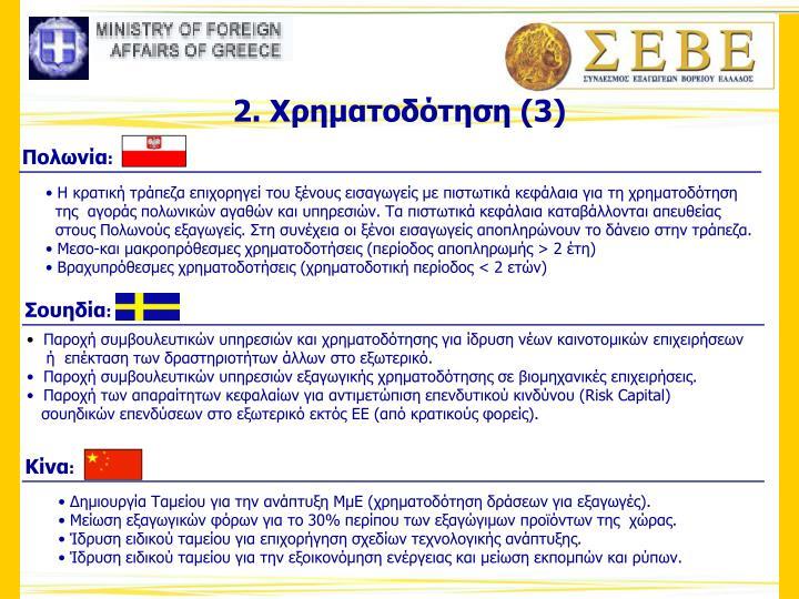 Η κρατική τράπεζα επιχορηγεί του ξένους εισαγωγείς με πιστωτικά κεφάλαια για τη χρηματοδότηση