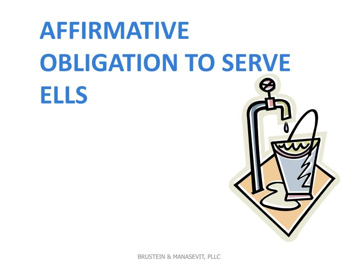 Affirmative Obligation to Serve ELLs