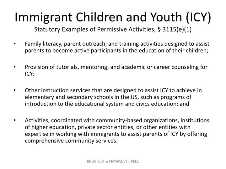 Immigrant Children and Youth (ICY)