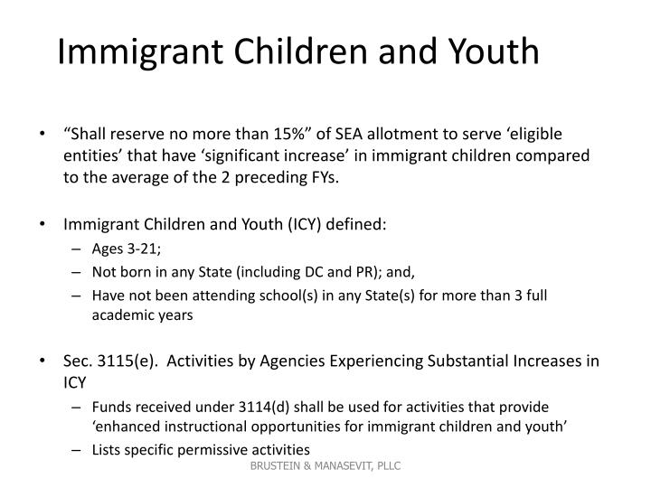 Immigrant Children and Youth