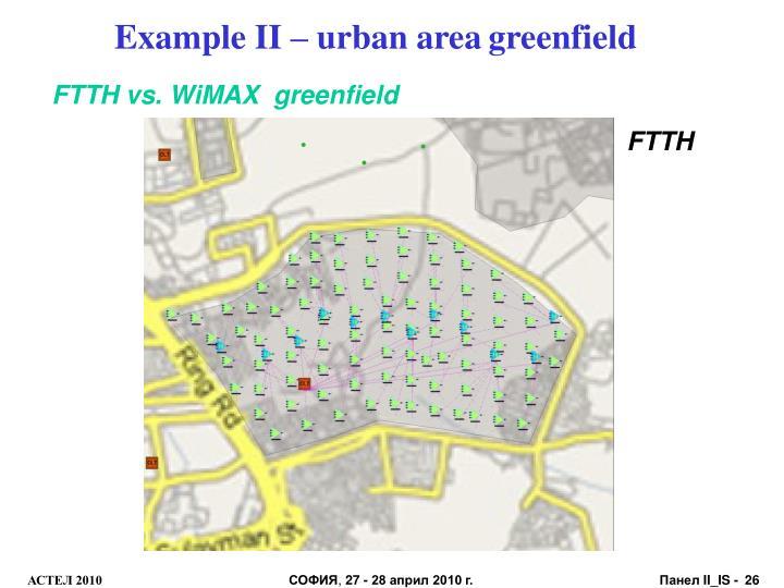 Example II – urban area
