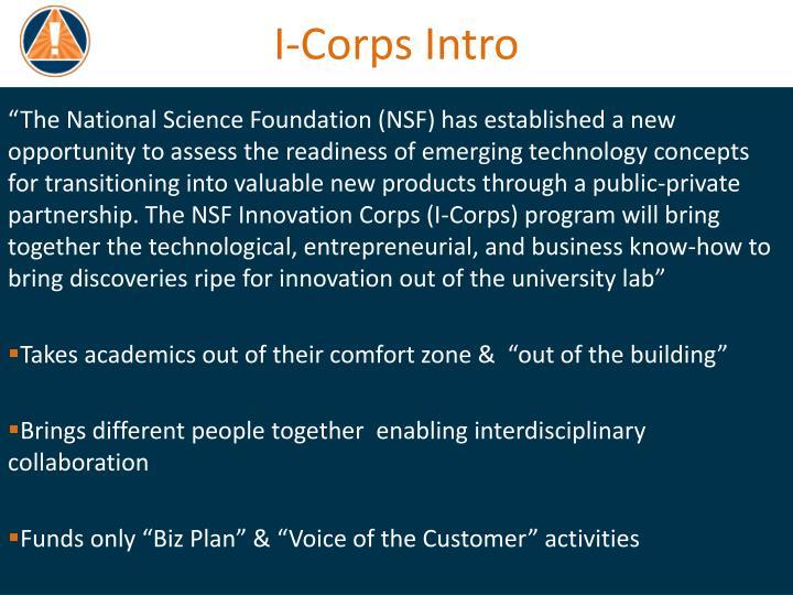 I-Corps Intro