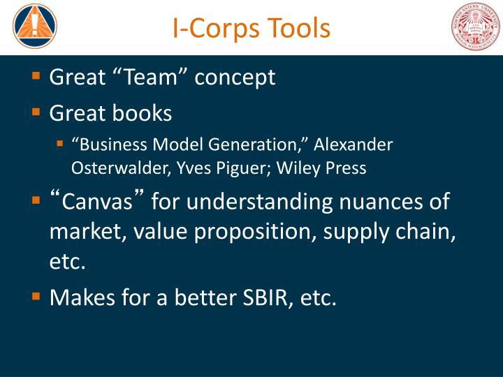I-Corps Tools