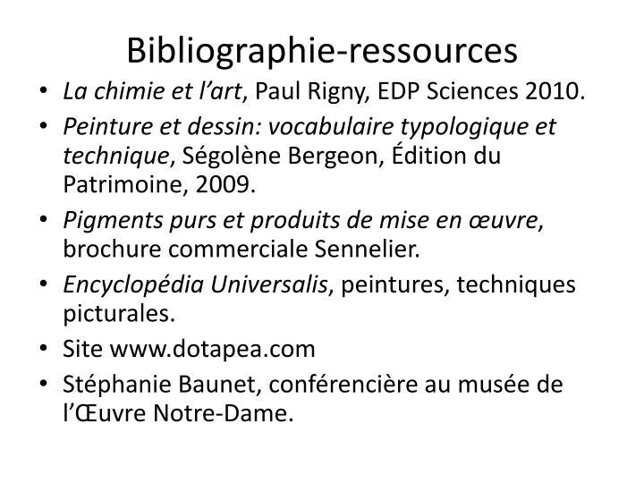 Bibliographie-ressources