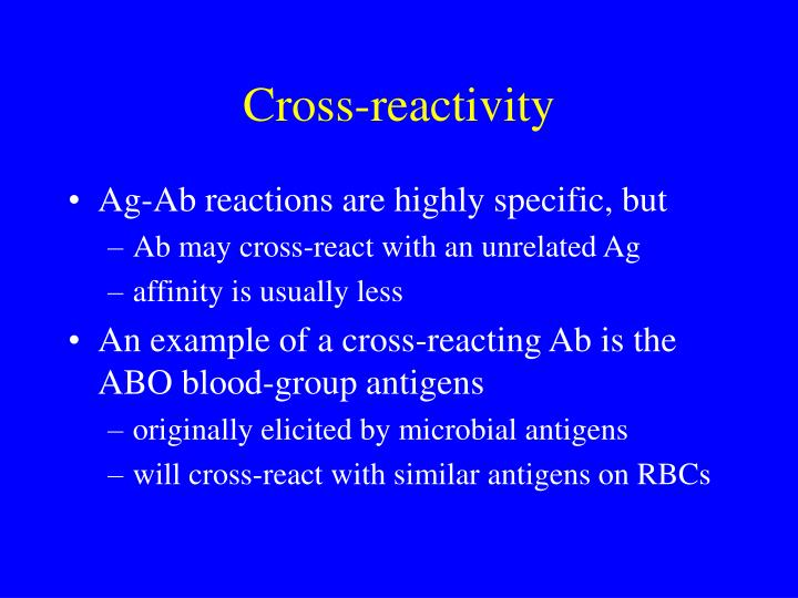 Cross-reactivity
