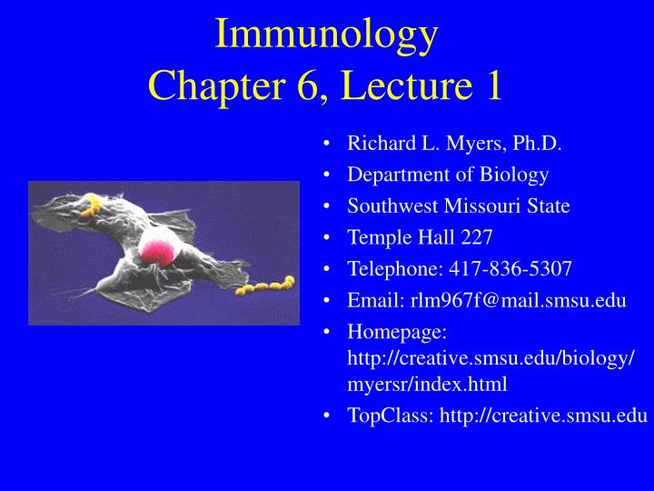 Immunology chapter 6 lecture 1