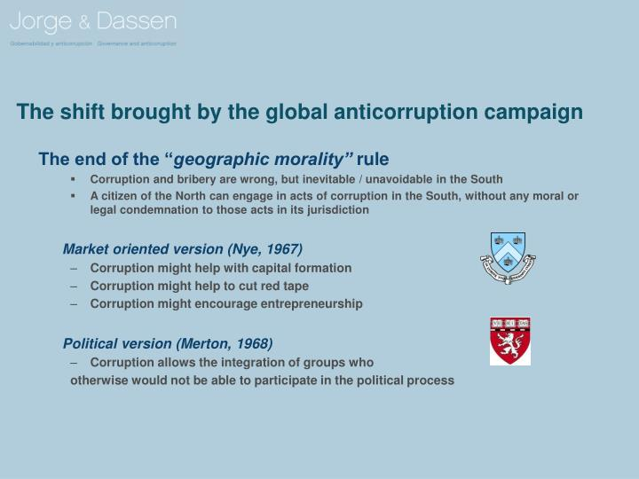 The shift brought by the global anticorruption campaign