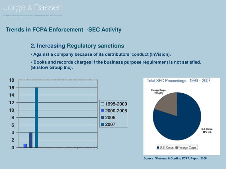 Trends in FCPA Enforcement  -SEC Activity