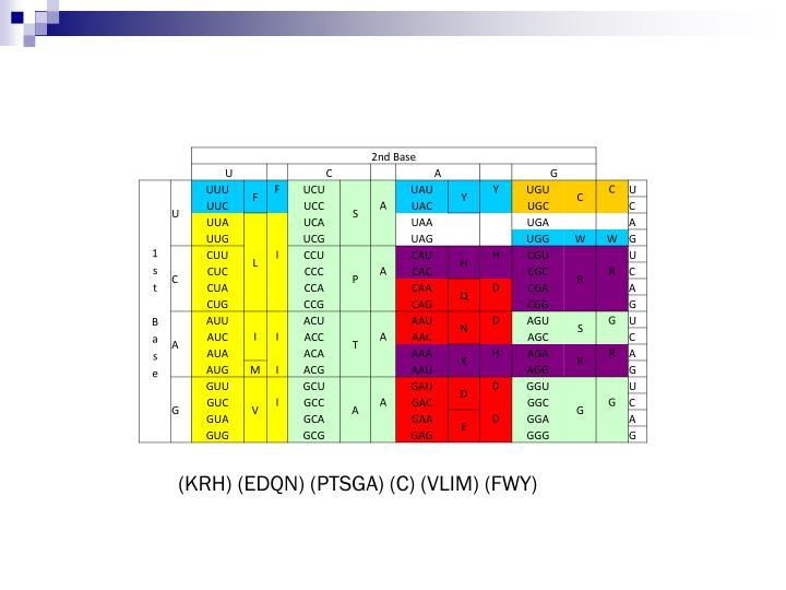 (KRH) (EDQN) (PTSGA) (C) (VLIM) (FWY)